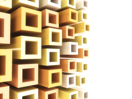 Abstract sport geometrical background with orange and white frames photo