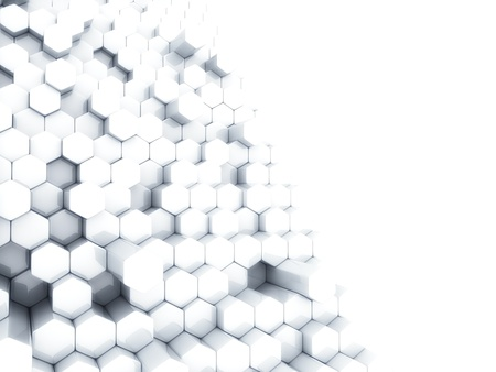 Abstract white business background with different hexagons