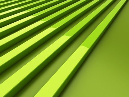 Abstract green background with lines and reflections photo