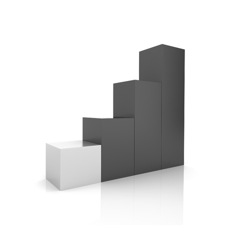 silver bars: Illustration of progression with black and silver bars (black collection)
