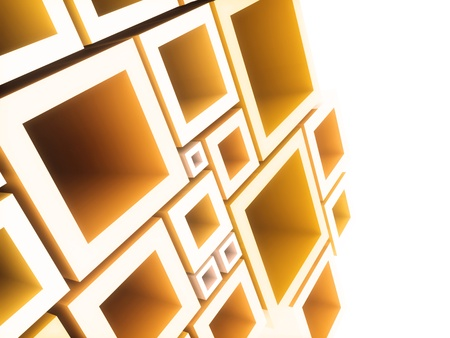 Abstract geometrical background with orange frames and copyspace Stock Photo - 10131484