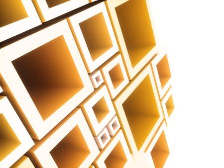 Abstracte geometrische achtergrond met oranje kozijnen en copyspace