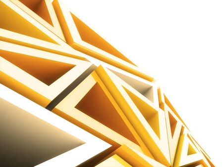 Abstract geometrical background with orange triangles and copyspace photo