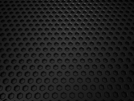 Illustration of black metallic textured background with cells illustration