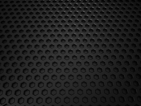 black metallic background: Illustration of black metallic textured background with cells