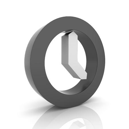 clock icon: Illustration with black clock symbol (black collection)