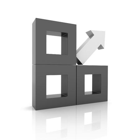 synergy: Concept of unique element arrow(black collection)
