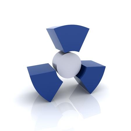 Illustration with blue radiation symbol (blue collection) illustration