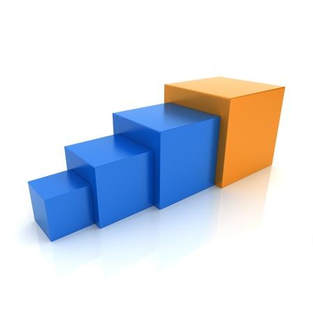 progression: Illustration with color cubes progression concept (color collection)