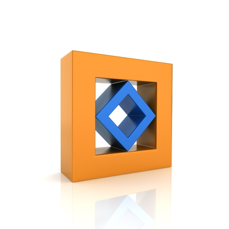 synergism: Concept of unity with two frames (color collection)
