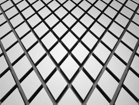 Reflective background with metallic rhombs and black lines photo
