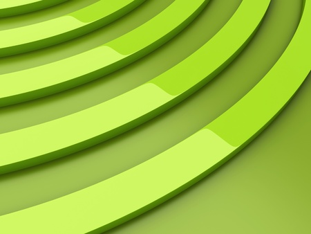 Illustration of background with green curves and space illustration