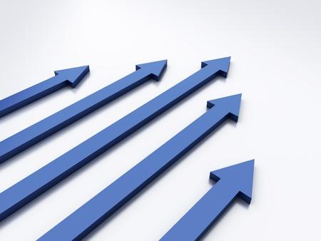maximum: White background with 5 arrows (success concept)