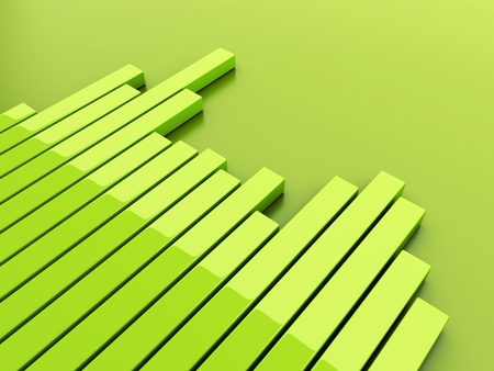 Green background with reflective bars diagram photo