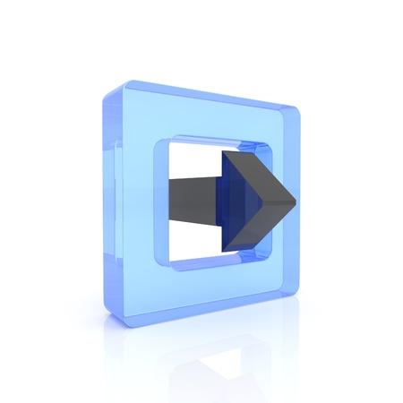 Illustration of glass symbol, concept of exit illustration