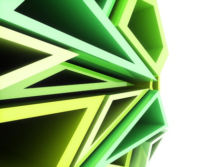 Abstract sport geometrical background with green geometric shapes Stock Photo - 11127776