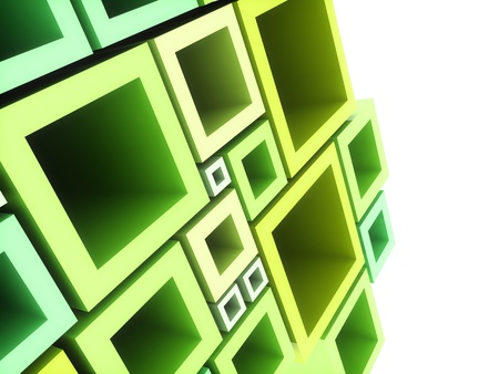 Abstract geometrical background with green frames and copyspace photo