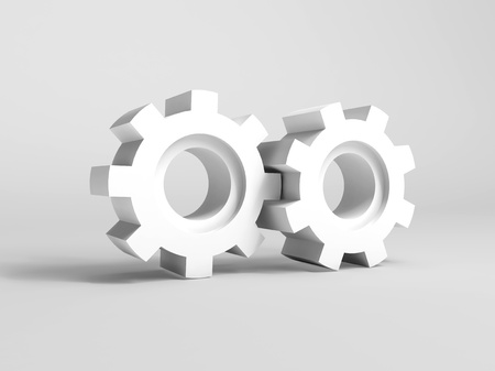 Illustration of concept with gears on white background illustration