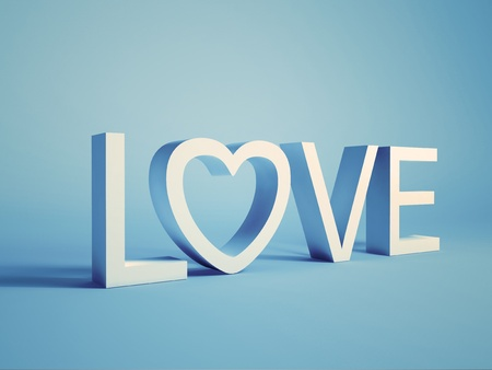word love: Illustration of concept with word love on background Stock Photo