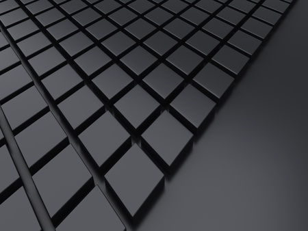 black metallic background: Illustration with black metallic background with blocks
