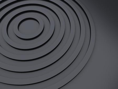 black metallic background: Illustration with black metallic background with circle