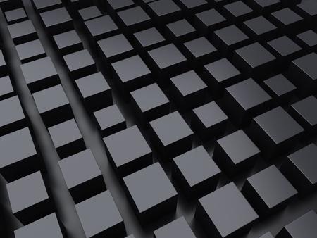 black metallic background: Illustration with black metallic background with cubes
