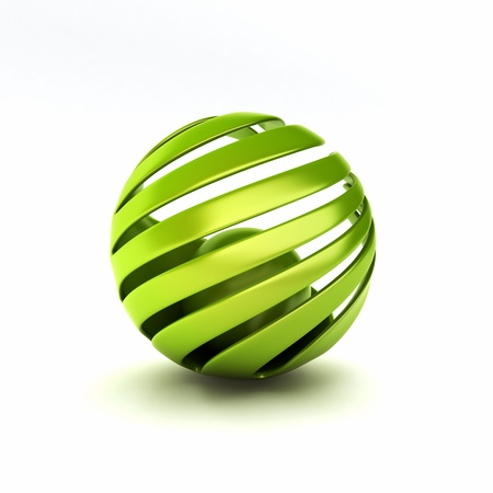 sphere icon: Eco symbol with green spheres  protection concept
