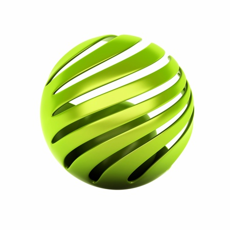 Eco symbol with green spheres  protection concept