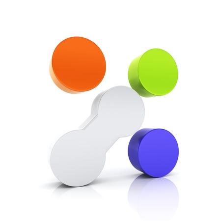 unique concept: Abstract conceptual symbol with unique element  Uniqueness concept  Acid set Stock Photo