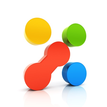 uniqueness: Abstract conceptual symbol with unique element  Uniqueness concept  Color set