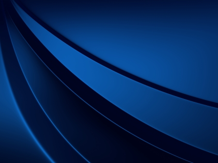 Elegant blue metallic background with three curved lines