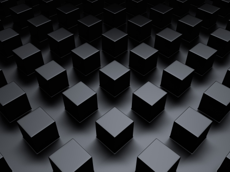 shiny metal background: Black abstract metallic background with a lot of cubes Stock Photo