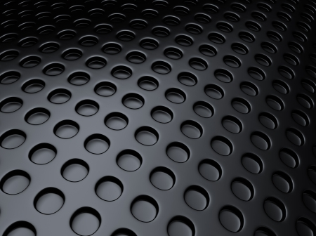grille: Black metallic background with lot of perforated dots