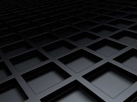 meshed: Black metallic background with squares and space for text
