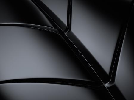 black metallic background: Elegant black metallic background with leaf shape lines Stock Photo