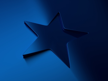 blue metallic background: Elegant blue metallic background with star shape Stock Photo
