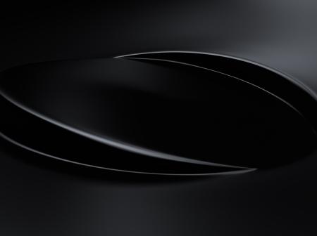 black metallic background: Elegant black metallic background with two wave lines Stock Photo