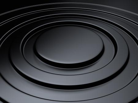black metallic background: Elegant black metallic background with circle waves Stock Photo