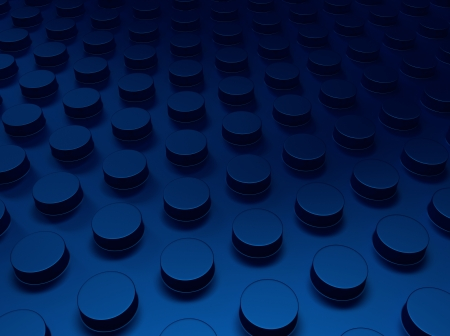 Blue industrial metallic background with dots