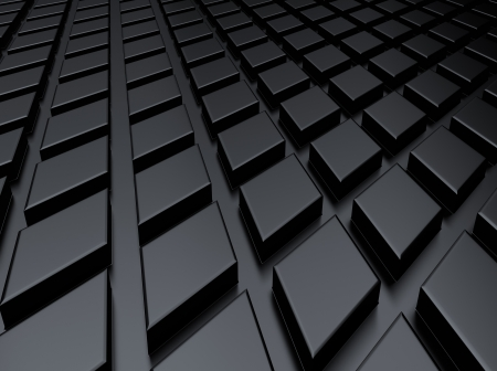 Black industrial metallic background with rhombs