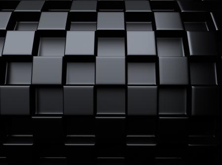 meshed: Elegant black metallic background with round chess pattern  Stock Photo