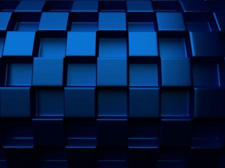 blue metallic background: Elegant blue metallic background with round chess pattern