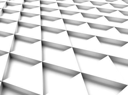 meshed: White industrial background with triangles