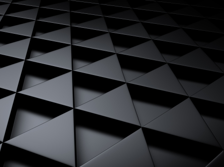 meshed: Black industrial metallic background with triangles