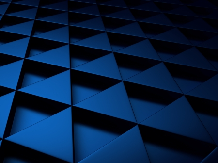 meshed: Blue industrial metallic background with triangles