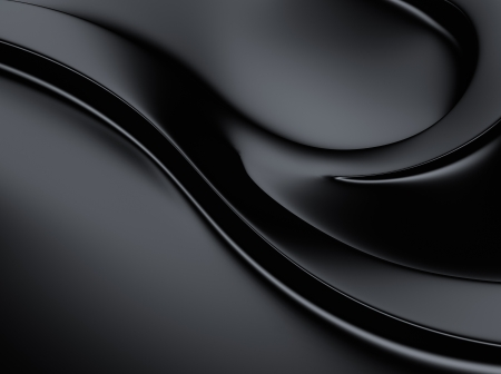 Elegant black metallic background with curves and space for text Stock Photo