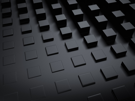 shiny black: Elegant black metallic background with many bars and space for text Stock Photo