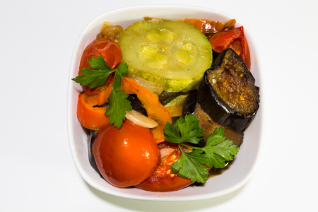 ragout: ragout in a pan of vegetables Stock Photo