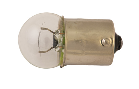 halogen lighting: Old , clear light bulb for car headlights. Stock Photo