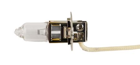 halogen lighting: Old light bulb for car headlights.